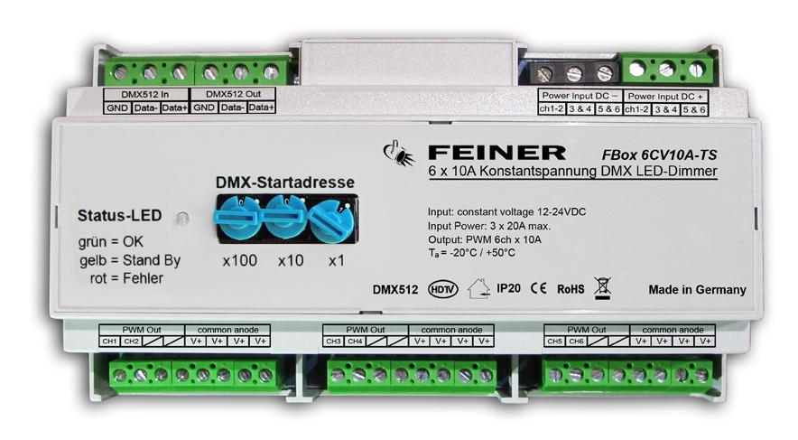 Ziemlich Installation Eines Dimmers Für Dmx512 Zeitgenössisch ...